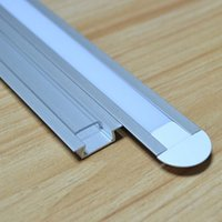 Wholesale 30m a m per piece led aluminum profile for led strips SN2206 m clear cover and milky diffuse cover are available