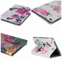 apple ipad case eiffel - Fashion Eiffel Tower Butterfly Flower Wallet Leather For IPad Mini Mini4 Oil painting Soft TPU Case Credit Card Slot Stand Purse Pouch