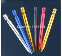 Wholesale Super strong piece a aluminum camping tent nails peg pin outdoor sun shading peg stake cm fit for hard ground and beach