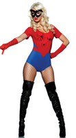 Wholesale Free Shiping Amazing Spider Man tights costume adult Halloween masks suits promotional clothing COS Women hero