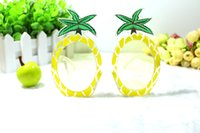 Wholesale Funny and Cute pineapple party Glasses Sunglasses PC material sunglasses and mask For Dances and Festivals Party Supplies Decoration