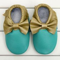 mothercare - Retail bebe girl bow moccasins Shoes Baby moccs Prewalker Newborns Kids Footwear Mothercare First Walker Brand baby leather moccasins
