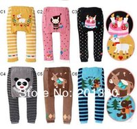 Wholesale cotton animal baby pp warmers pants knitted trousers