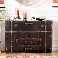 american leather furniture - Odd ranks yield American style furniture Chinese Shield Series PU leather multi drawer Chest of Drawers Entrance Cabinet Sid