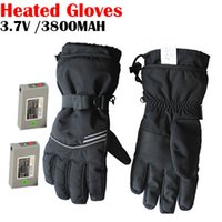battery heated gloves - WARMSPACE V Heating Gloves With MAH MAH Smart Battery Hours Warming Skiing Gloves For Winter Outdoor
