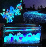 aquarium events - Fairy Garden Glow In The Dark Pebbles Stone Home Decor Walkway Aquarium Fish Tanks Wedding Romantic Evening Festive Events Party Supplies