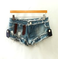 america jean shorts - FG1509 Magic Europe and America fashion short jeans women Nightclubs jeans patches Paint jean shorts size S L H117