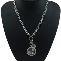 Wholesale Christmas Gift Floating Charms Family Tree Zinc Alloy Pendants Girl locket Charms Fashion Jewelry Charm Women Necklace