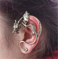 Wholesale jewelry ear clip Gothic punk personality retro dragon shaped earrings ear hook earring fashion only B205