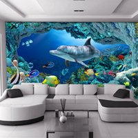 Wholesale Custom Large Mural Living Room TV Background Wallpaper Children s Room D Stereoscopic Underwater High Quality Wallpaper