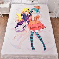 air mattress sheets - Anime Series Bakemonogatari Sheet Series Kizumonogatari Flannel Mattress Blanket Air Conditioner Quilt cmx200cm HD Printing