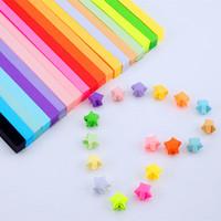 achat en gros de quilling bandes de papier-Hot Sale Artesanat Origami Papier étoile Strips Papier Origami Papier Quilling Décoration 30 couleurs