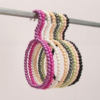 Wholesale 1603 Colorful Pearl Scarf Hanging Racks Silk Ties Scarves Towel Hanger Plastic Clothes Hangers For Baby Supplies