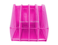 Wholesale Office accessories organizer desk multifunctional colorful Mesh Desk Organizer Office Supplies Desk Tray Silver Rose Red