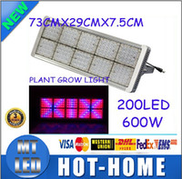 Wholesale x2 DHL fastest shipping New Full Spectrum W LED mm mm mm RED BLUE Hydro Medical Plant Flower Grow Panel Light AC85 V