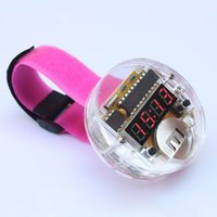 awesome digital watches - DIY LED Digital Tube Wristwatch Electronic Watch DIY Kit SCM Awesome Transparent LED Watch