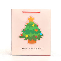 best hand bags wholesale - Christmas Tree White Gift Bag Elegant Portable Paper Hand Bag Best for You Holiday Party Decoration Gift Package SD765