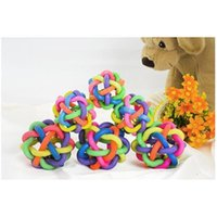 Wholesale factory Cheap Pet Toy Ringing Ball DHL Freeshipping Bell Sound Rubber Ball cm Size Colorful Trainning Ball Cat Playing Toys