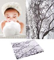 Wholesale Big Black Tree Design cm Bathroom Waterproof Fabric Bath Shower Curtain Ring Hooks H11882