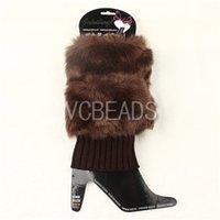 Wholesale Fashion Ladies Crochet Socks Trim Knit Leg Warmer Fur Boot Socks Boot Socks Knee High Hosiery Girls Winter Leggings Cotton Stockings