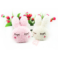 baby mobile accessories - Toddler Baby Childlren Plush Toy Cartoon Rabbit Bag Cell Phone Mobile Phone Chain Accessory Keychain