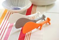 Wholesale Fedex DHL Cute Plastic Handle Squirrel Spoon Vertical Non stick Rice Spoon Creative Rice Shovel