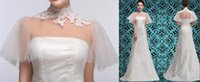 Wholesale Plus Size Lace Wedding Dresses Real Photos With Wrap Sheer Strapless A Line Sweep Train Lace Up Lace Party Bridal Gowns