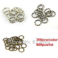 achat en gros de foulards gros anneaux-Vente en gros-600PCS/LOT bricolage collier foulard pendentifs et accessoires 3 couleurs mixte charme BCC ronde cercle sonne AC0059MIX livraison gratuite