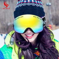 Wholesale Benice Outdoor Master Ski Snowboard Goggles with Detachable Dual Layer Anti Fog Lens