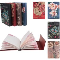 Wholesale 228 Page Classic Vintage Flower Blank Pages Journal Diary Notebook