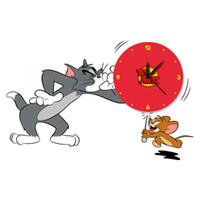 Cheap Digital wall clock Best Two-piece Cartoon cartoon clock