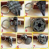 Wholesale Novelty Star Wars Film Surrounding Keyrings Star Wars Spacecraft Warships Keychain Keyring Keyfobs Metal Jewelry Accessories