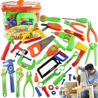 Wholesale Christmas gifts Tool Toy Kit Set Toolbox Package Children DIY Play house plastic toy