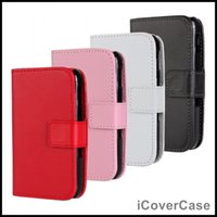 pu galaxy s4 active - PU Leather Flip Stand Wallet Phone Case for Samsung Galaxy S3 Mini S4 Mini S5 Mini S5 Active g870 Galaxy Mini Galaxy Mini etc