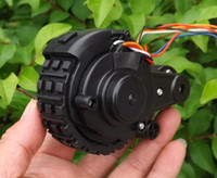 Wholesale Intelligent Robot Chassis Kit sweeping robot geared motor encoder guns tires one pair