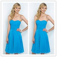 Reference Images A-Line Strapless 2015 short beach bridesmaid dresses under 50 cheap blue strapless chiffon knee length handmade maid of honor dresses formal party prom gowns