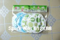 Wholesale Happyflute Breathability mommy Bamboo Fiber breast pad PUL Washable Breathable Nursing Pads Super Absorbency Stay Dry Ultra Thin