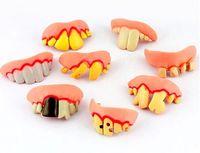 best dentures - Best selling Trick toy bar KTV Halloween more modelling wacky props dentures sets