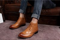 Wholesale 2014 new trend in tube male boots Korean men British fashion Martin boots male boots boots high boots to help