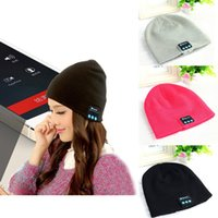 Wholesale 2016 New Arrival Bluetooth Headphone Hat Bluetooth Earphone Hat Winter Beanie Hat With Mic Speakers