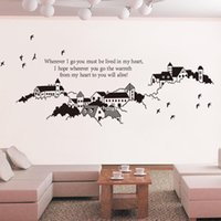 beautiful background - wall stickers home decor Beautiful Mediterranean town backdrop stickers living room sofa TV background wall stickers JM7215 pastoral sticker