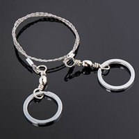 Wholesale 1Pcs Mini Hacksaw Steel Wire Saw Handsaw Chain Ring For Outdoor Camping Hiking Hunting Emergencey Survival Tools Travel Kits
