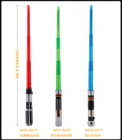 Wholesale Kids cosplay Weapons star wars sword with light Star Wars sword led lightsaber with sound PVC Action Figure Toys Christmas Gift for kid