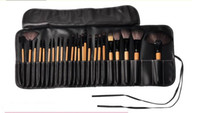 Wholesale 1lot Cheapest Cosmetic Brush set Wooden Handle Synthetic Makeup Brush Kits makeup brushes tools facebrush and eyebruse