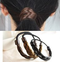 Pony Tails Holder fashion hair circle - new horsetail hair bands fashion color wig horsetail hair bands weaving braids of hair circle hair accessories