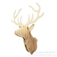 antique wooden hangers - Deal Creative craft animal head wall hangers deer head wood wall art home decor wood crafts wooden shapes kokeshi MM wood crafts