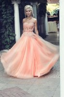 Cheap Beauty Ball Gown Strapless Corset Bodice Sheer Prom Dresses Organza Beads Floor Length Ball Gown Customize Sexy Party Dress Pageant Gown
