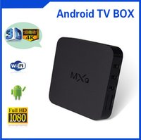 Wholesale Free MXQ Android TV Box Quad Core Amlogic S805 MXQ Media Player With XBMC KODI Fully Loaded Update Smart TV Box Pre installed APK