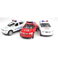 Wholesale Cool Toy Police Cars - Wholesale-Free shipping!1 :32 alloy pull back Sound and light Police car toy model,super cool Police car model,Children's educational
