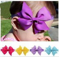 Wholesale Fashion Baby Girl Hair Accessories Kids Headband Ribbon Hair Bows Hairband Elastic Hair bands Bandeau Accesories